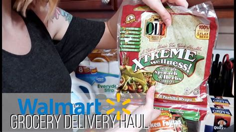 Walmart Grocery Delivery Haul   Trying to Be Healthier ...