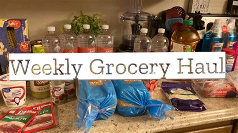 WALMART GROCERY DELIVERY | WEEKLY GROCERY HAUL FAMILY OF 3 ...