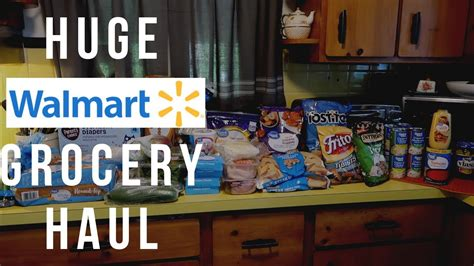 WALMART GROCERY HAUL   GROCERY HAUL ON A BUDGET   LIFE AS ...