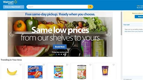 Walmart online grocery shopping service now available in ...