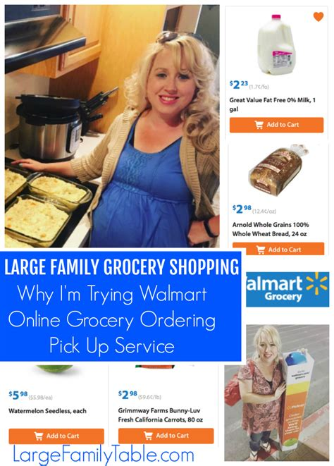 Walmart Order Groceries Online Archives   Large Family Table