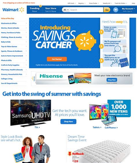 Walmart rolls out revamped website to compete with Amazon ...