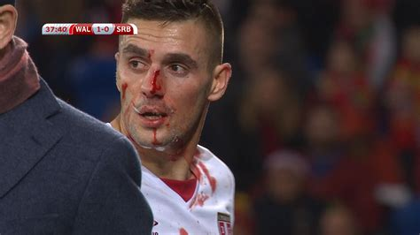 WATCH: Serbia s Dusan Tadic kicked in the face | Football ...