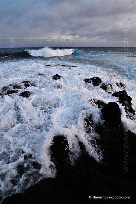 Water Rush  DSG_1468    Dusk at Poipu Beach, waves rushing ...
