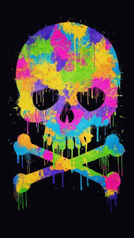 Watercolor Skull iPhone Wallpaper   iPhone Wallpapers