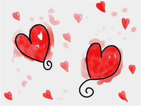 Watercolour Hearts Free Stock Photo   Public Domain Pictures