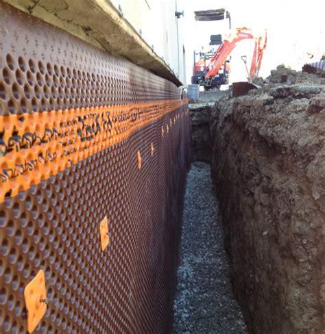 Waterproofing Membrane on Foundation Wall