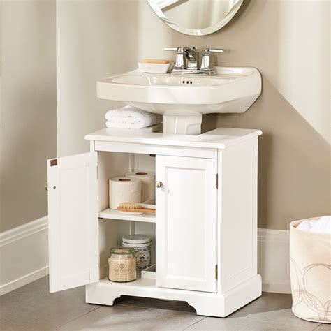 Weatherby Bathroom Pedestal Sink Storage Cabinet | Small ...