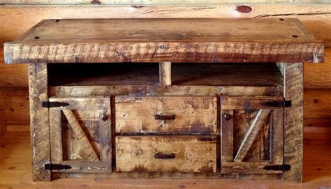 Weathered Wood Rustic TV Stand, for that rustic barnwood ...