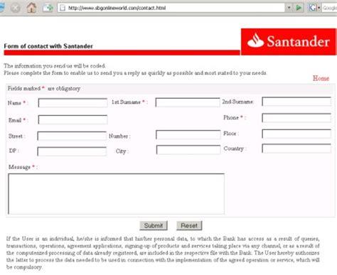 Web falsas que simulan ser el Banco Santander y Banco de ...