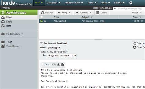 Web Hosting   Linux: Using Horde Webmail