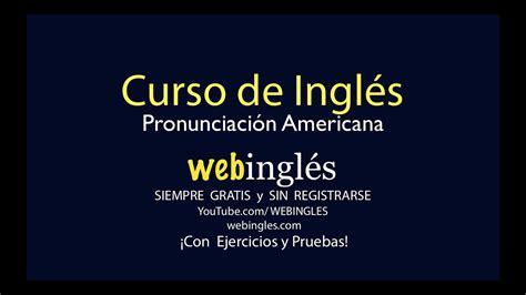 Webingles   Curso de Inglés Gratis   YouTube