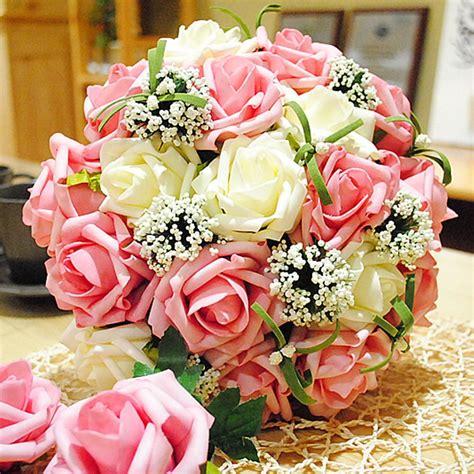 Wedding Centerpieces Bouquet Sweetheart Rose Silk Flower ...