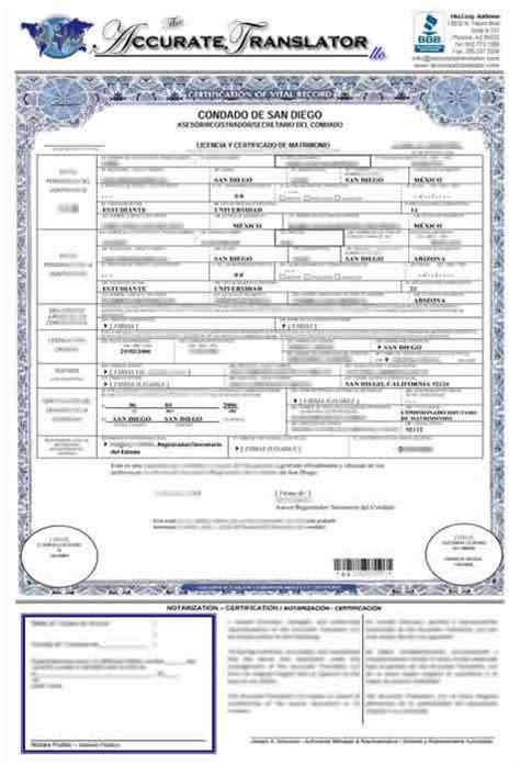Wedding Certificate Translated Into English | printable ...