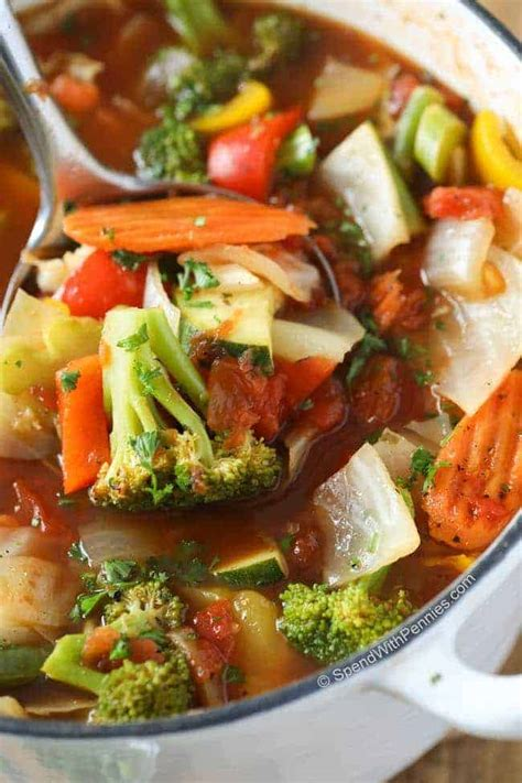 Weight Loss Vegetable Soup {with Amazing Flavor}   Spend ...