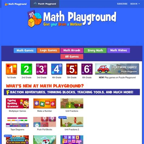 Welcome to Math Playground | Pearltrees