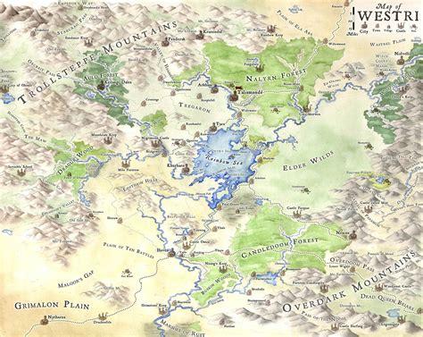 Westri, fantasy map by LingonB on DeviantArt