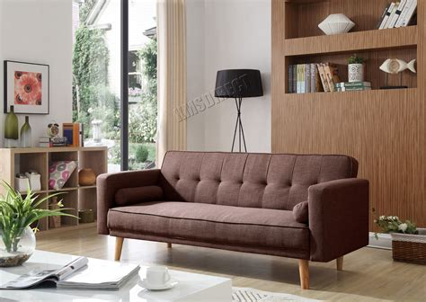 WestWood Fabric Sofa Bed 3 Seater Couch Luxury Modern Home ...