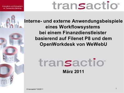 WeWebU OpenWorkdesk bei transactio