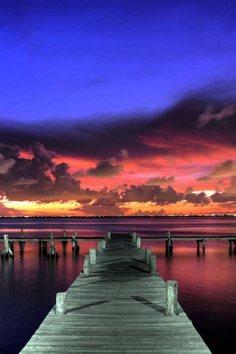 Wharf Wallpaper for iPhone HD, Background 640x960 | Beach ...