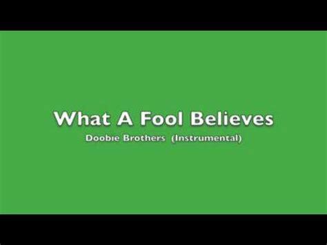 What A Fool Believes   Doobie Brothers  instrumental ...