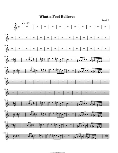 What a Fool Believes Sheet Music   What a Fool Believes ...