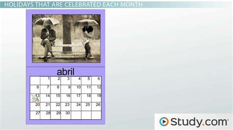 What Are the Months in Spanish?   Video & Lesson ...