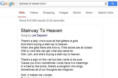 What Did They Say? Google Including Song Lyrics in Search ...