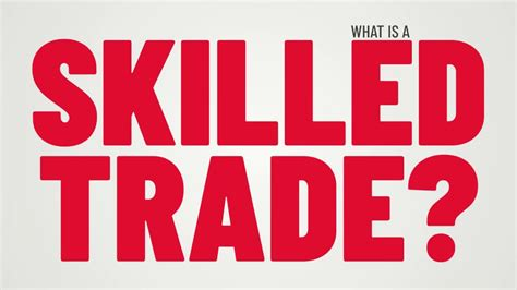 What is a Skilled Trade?   YouTube