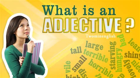 What is an adjective   English grammar lesson. Adjectives ...