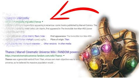 What Thanos Did To Google! *NEW* Secret Google Search ...