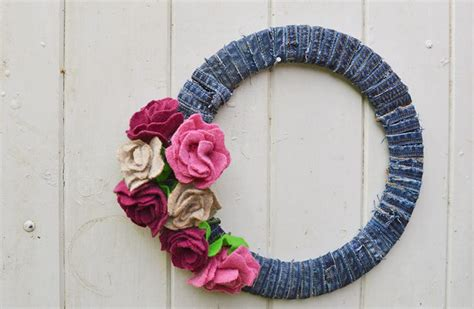 What To Do With Old Jeans No Sew projects   Pillar Box Blue