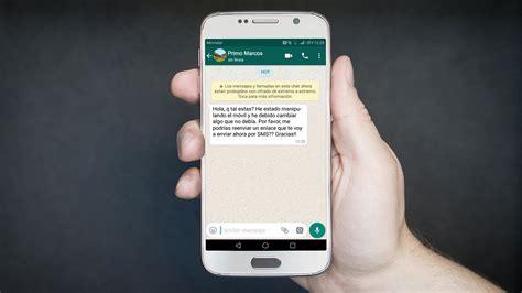 WhatsApp hackeado por abrir un enlace de un SMS: todo lo ...
