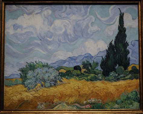 Wheatfield with cypresses meaning. Wheatfield with Crows ...