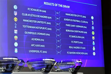 When is the Champions League back on TV? Last 16 fixture ...