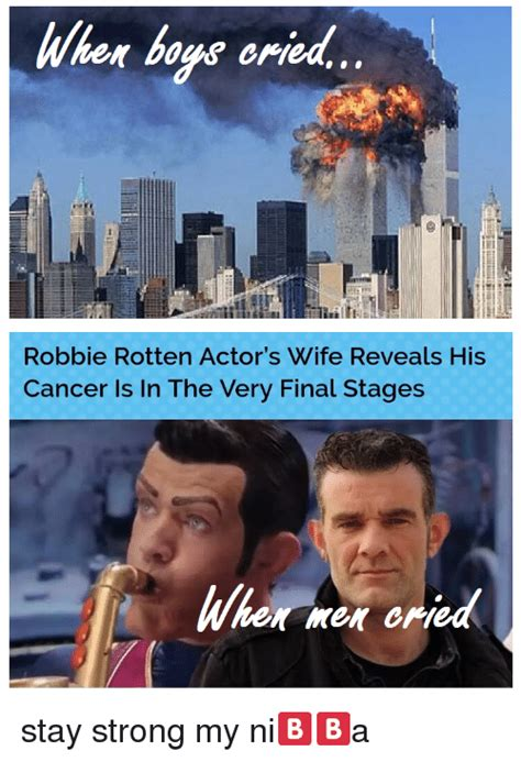 Wher Boys Oried Robbie Rotten Actor s Wife Reveals His ...
