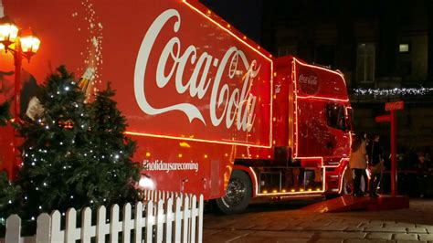Where can you see the Coca Cola Christmas lorry?