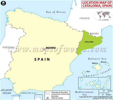 Where is Catalonia, Location of Catalonia in Spain Map