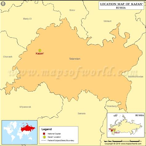Where is Kazan | Location of Kazan in Russia Map