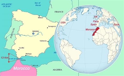 Where Is Morocco Located? Morocco Map   **Cities And Places