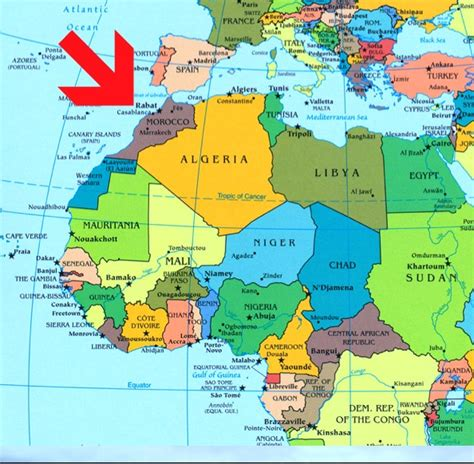 Where Is Morocco On A World Map   DVSIG2