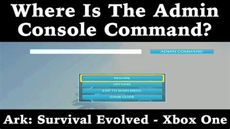Where Is The Admin Console Command?   Ark: Survival ...