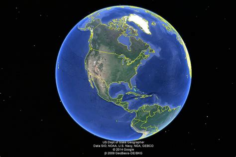 Where s the Center of Google Earth?