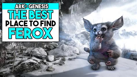 Where To Find FEROX In Ark Genesis  FEROX CAVE    YouTube