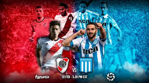 Where to find River Plate vs. Racing Club on US TV and ...