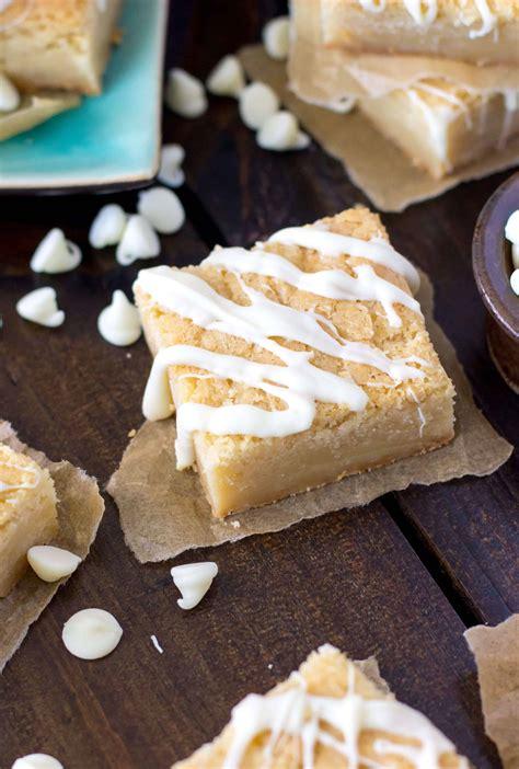 White Chocolate Brownies  Blondies    Sugar Spun Run