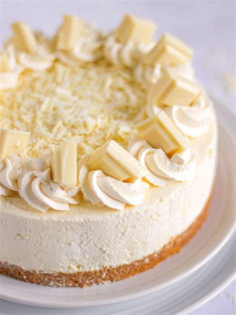 White Chocolate Cheesecake   A No Bake Easy Recipe