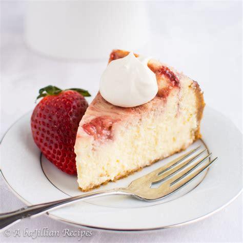 White Chocolate Strawberry Cheesecake   A baJillian Recipes