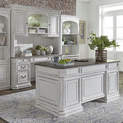 White Executive Desk   Home Office Furniture | NY ...