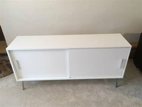 White Gloss Sideboard Storage Cabinet with Shelves and ...